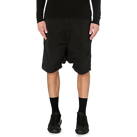 RICK OWENS Dropped-crotch shorts (Black