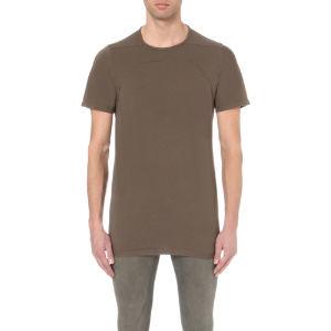 Stitch-detail longline cotton t-shirt