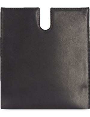 RICK OWENS Leather iPad case