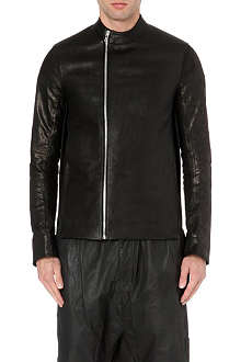 RICK OWENS Contrast back leather jacket