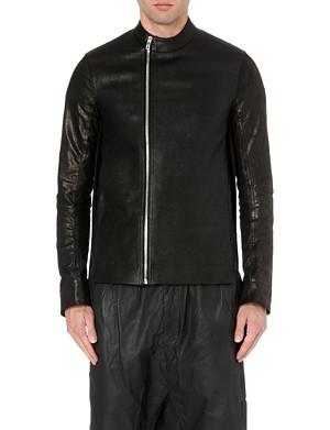 RICK OWENS Contrast back leather jacket