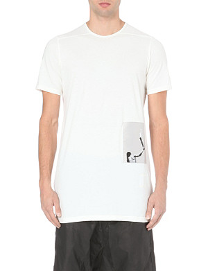 RICK OWENS Patch cotton-jersey t-shirt