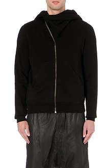 RICK OWENS Mountain asymmetrical  zip-up hoody