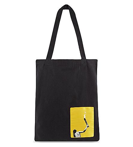 RICK OWENS Small canvas shopper bag (Black