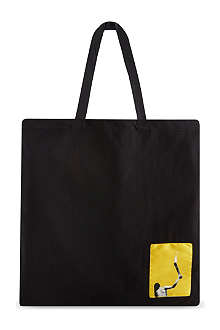 RICK OWENS Large canvas shopper bag