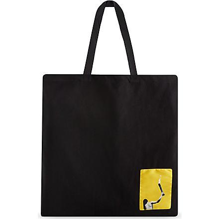RICK OWENS Large canvas shopper bag (Black