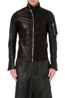 RICK OWENS Mollino asymmetrical leather jacket