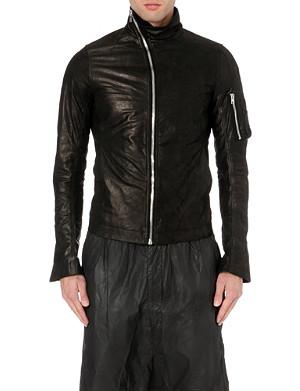 RICK OWENS Mollino asymmetrical leather jacket