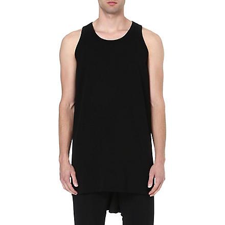 RICK OWENS Cotton vest (Black