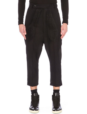 RICK OWENS Astaires cropped wool trousers