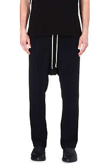 RICK OWENS Drop-crotch jogging bottoms