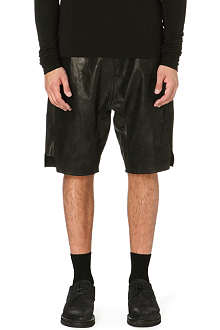 RICK OWENS Leather shorts