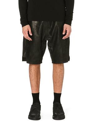 RICK OWENS Leather shorts