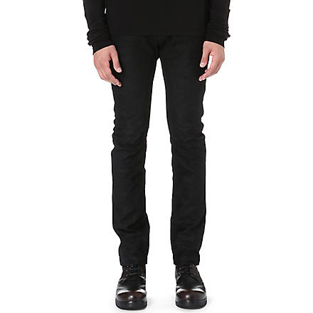 RICK OWENS Detroit slim-fit tapered jeans (Black