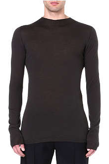 RICK OWENS Semi-sheer wool jumper