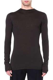RICK OWENS Semi-sheer wool jumper