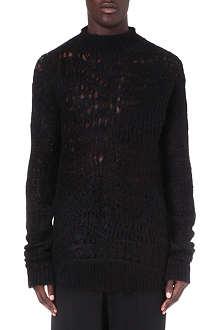 RICK OWENS Psycho crochet jumper