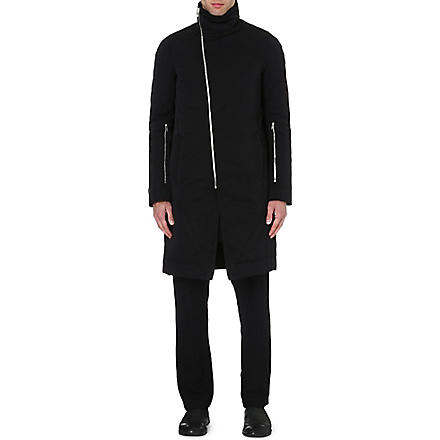 RICK OWENS Quilted coat (Black