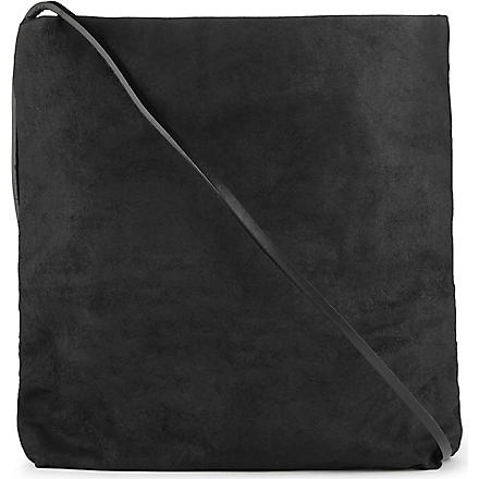RICK OWENS Leather cross-body bag (Black