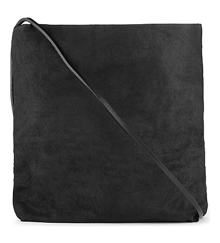 RICK OWENS Leather cross-body bag (Black