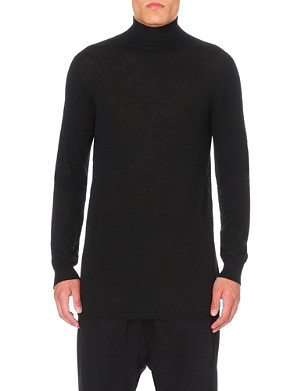 RICK OWENS Oversized turtleneck cashmere jumper
