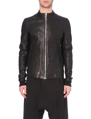 RICK OWENS Lightweight leather jacket