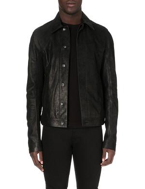 RICK OWENS Denim-style leather jacket
