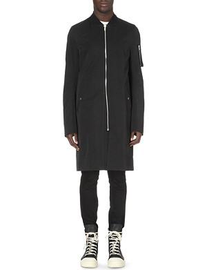 RICK OWENS Long Flight Bomber coat