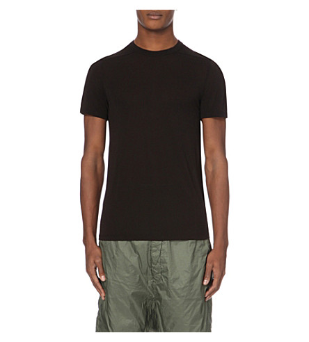RICK OWENS Crewneck short-sleeves t-shirt (Black