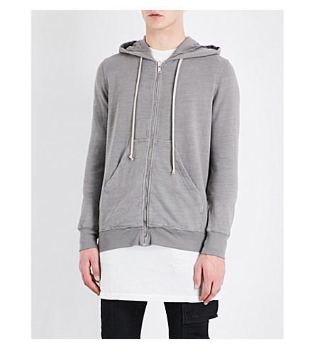 RICK OWENS DRKSHDW Zip-front cotton-jersey hoody (Grey