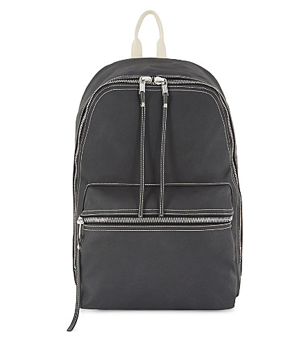RICK OWENS Drkshdw rubber backpack (Black+natural