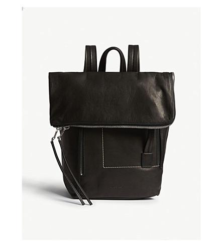 RICK OWENS Leather duffle bag (Black