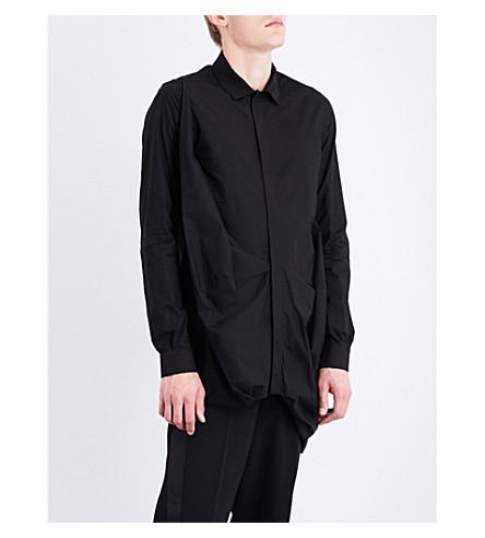 RICK OWENS Smash regular-fit cotton-poplin shirt (Black