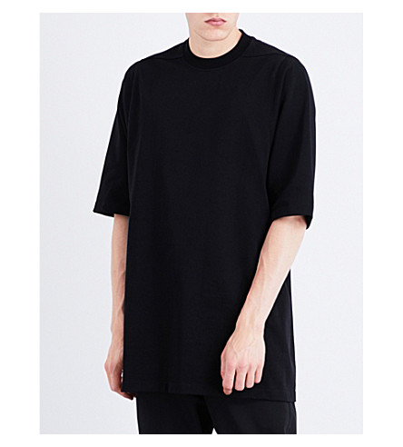 RICK OWENS Oversized cotton-jersey T-shirt (Black