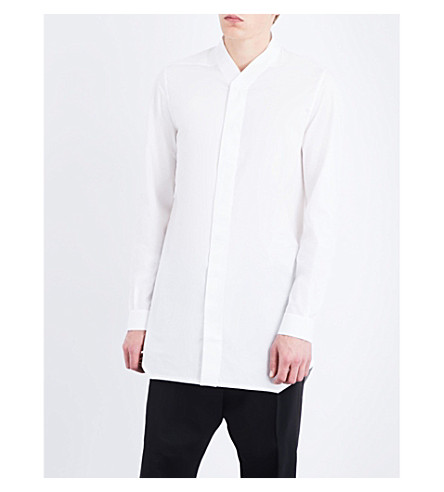 RICK OWENS Faun regular-fit cotton-poplin shirt (Milk