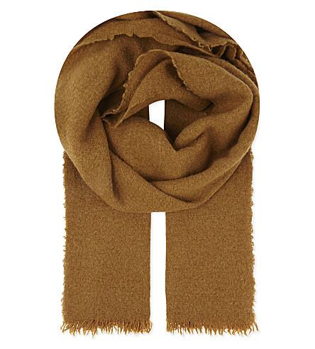 RICK OWENS Cashmere-wool blend scarf (Topaz