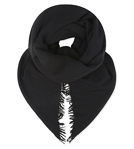 RICK OWENS Cashmere scarf (Black