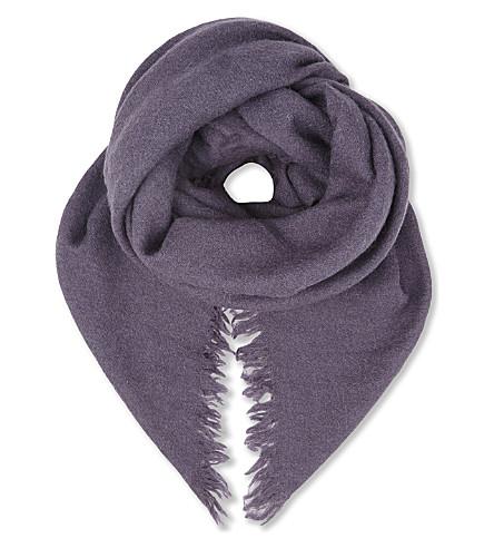 RICK OWENS Alpaca scarf (Plum