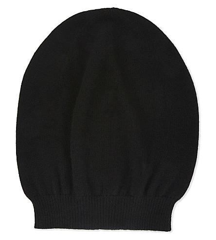 RICK OWENS Cashmere beanie (Black