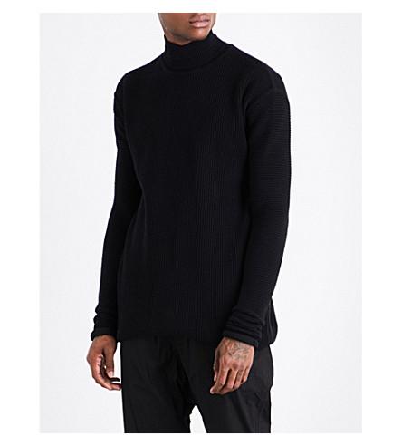 RICK OWENS Oversized turtleneck jumper (Black