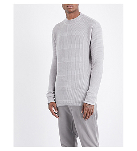 RICK OWENS Fisherman knitted jumper (Fog
