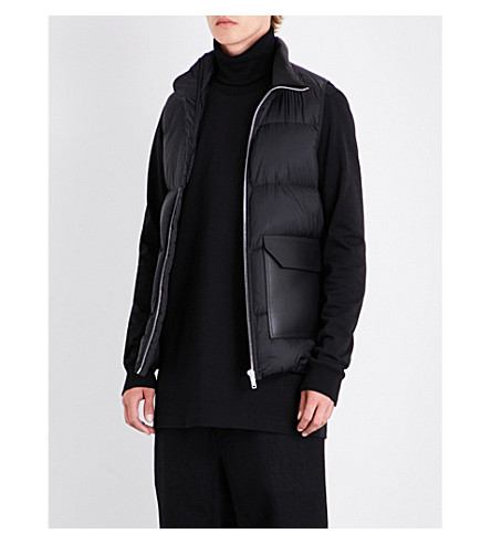 RICK OWENS Quilted crepe gilet (Black