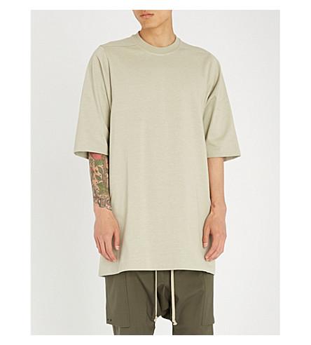 RICK OWENS Longline cotton-jersey T-shirt (Pearl