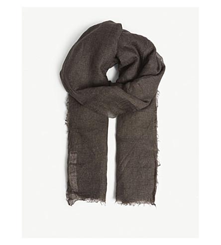 RICK OWENS Sandy cashmere silk-blend scarf (Dark dust