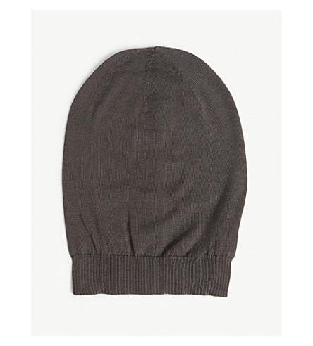 RICK OWENS Sisyphus cashmere hat (Dark+dust
