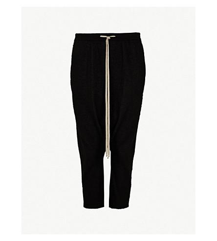 RICK OWENS Dropped-crotch cashmere shorts (Black