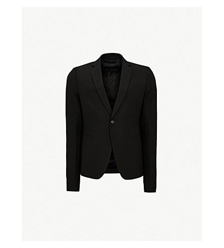 RICK OWENS Cropped regular-fit wool jacket (Black