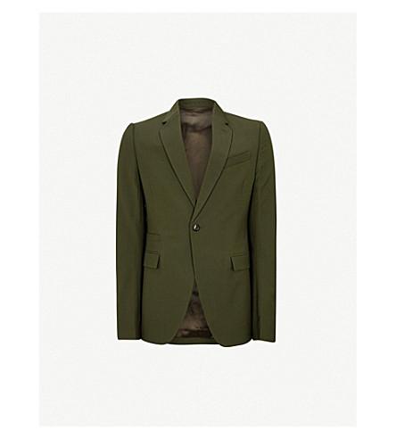 RICK OWENS Regular-fit wool jacket (Forest