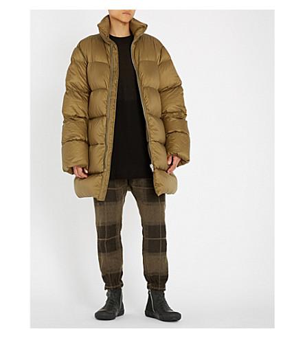 RICK OWENS Coa shell-down duvet coat (Bean