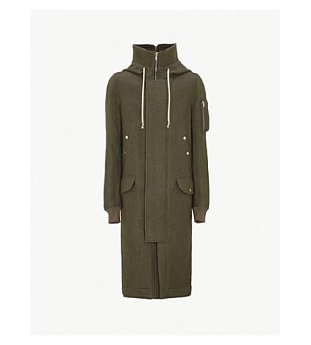 RICK OWENS Mega wool parka coat (Dark+dust